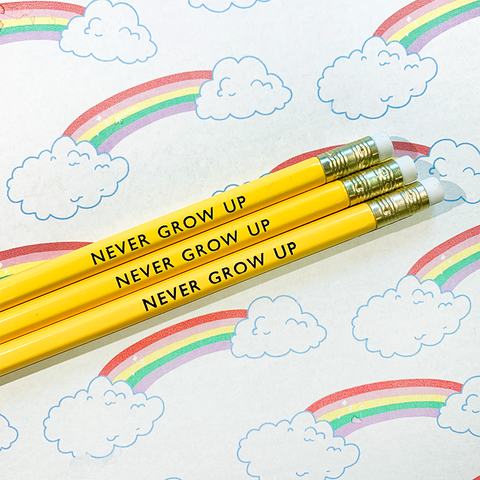 Never Grow Up Pencils