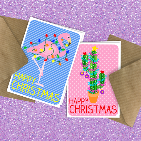 Kitschy Cute Christmas Cards