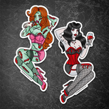 EXTRA BIG Spooky Pinup Vinyl Stickers