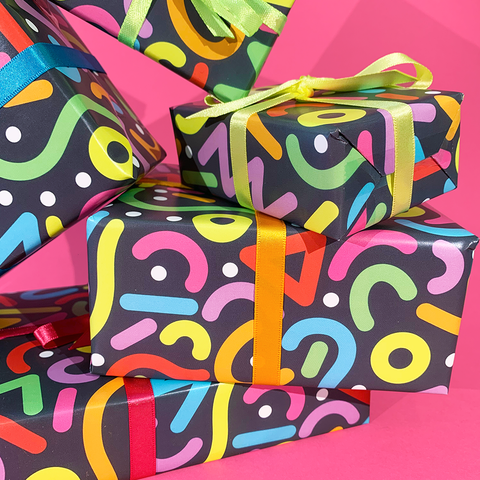 90s Pattern Wrapping Paper