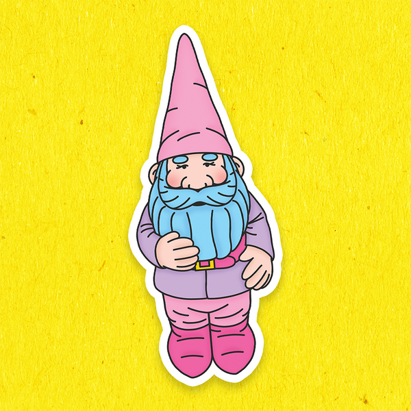 BIG Garden Gnome Vinyl Stickers