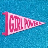 Girl Power mini felt pennants