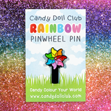 Spinning Pinwheel Pin