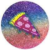 Cosmic Rainbow Pizza Pin