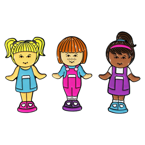 NEW Polly Doll 3 Pin Set