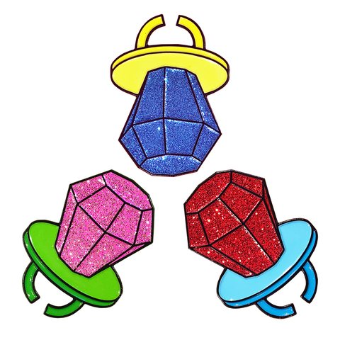 Glitter Ring Pop Pins