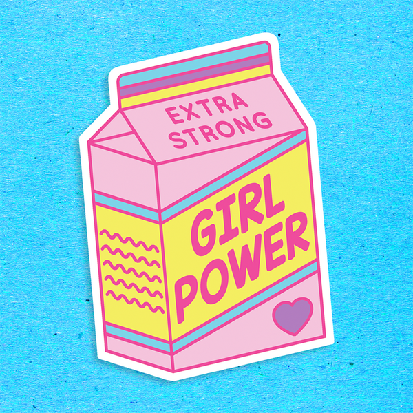 BIG Girl Power Vinyl Sticker