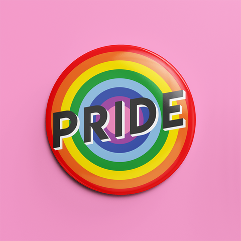 Pride button badge