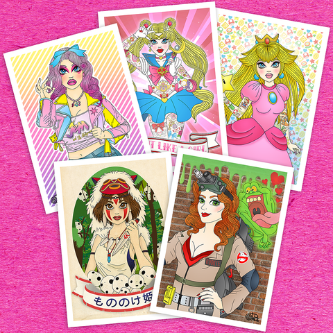 A4 Candy Doll Prints