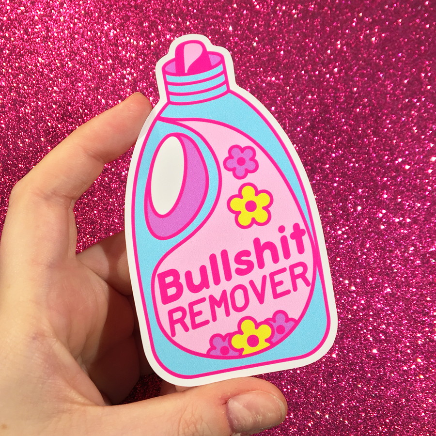 Big bullshit remover vinyl sticker