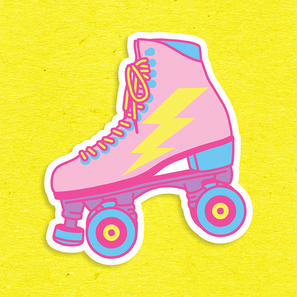 BIG Rollerskate Vinyl Sticker