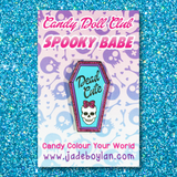 Spooky Babe Sparkle Pin