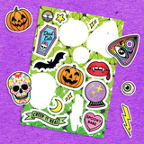 Spooky Sticker Sheet