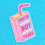 BIG Fresh Boy Tears Vinyl Sticker