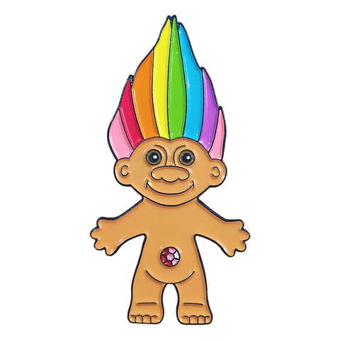 Rainbow Troll Pin
