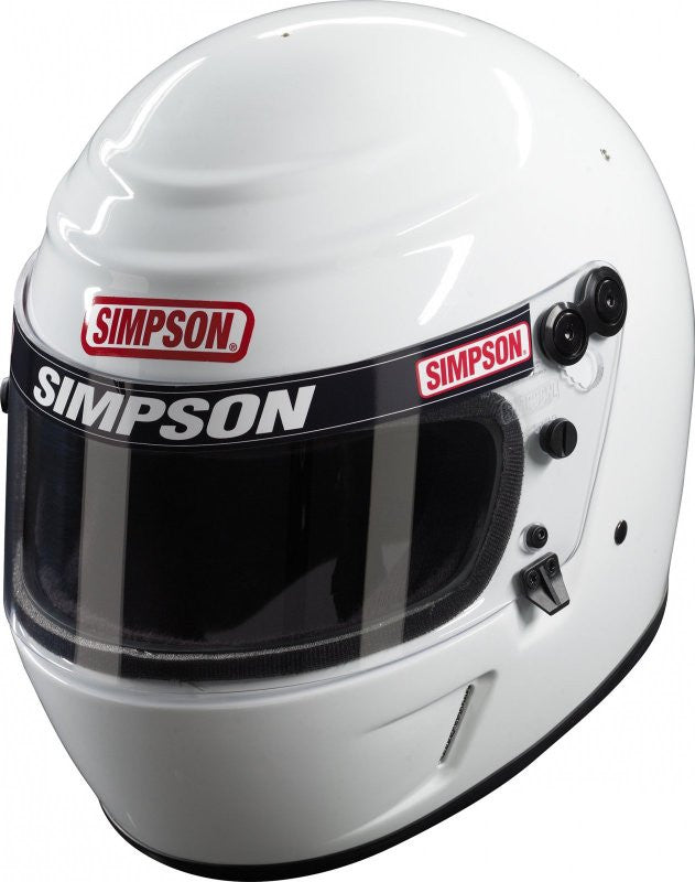 Simpson Voyager Evolution SA2010 Racing Helmet-Black-7 3/4
