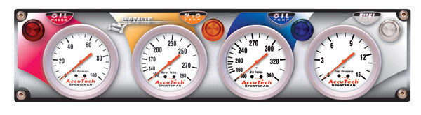 LongAcre 4 Gauge Panel w. Sportsman™ Gauges - OP,WT,OT,FP