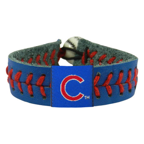 Chicago Cubs Leather Baseball Seam Bracelet