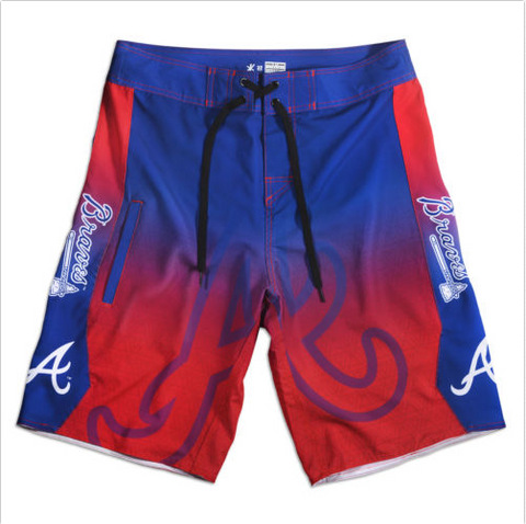Atlanta Braves Mens Swim Trunks/Board Shorts