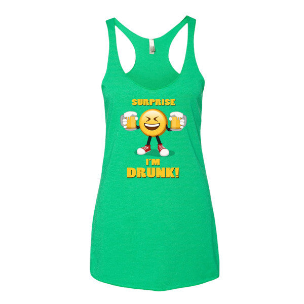SURPRISE I'M DRUNK! - Emoji Women's tank top