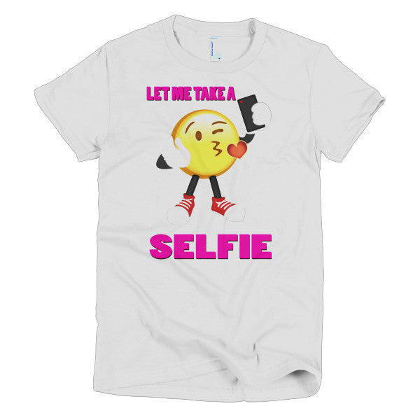 LET ME TAKE A SELFIE - Emoji Short sleeve women's t-shirt
