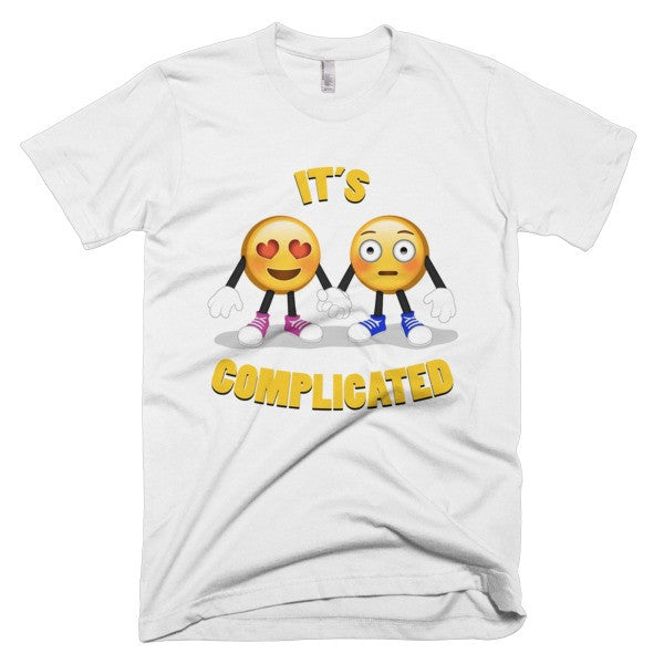 IT'S COMPLICATED - Men's Emoji Tee Shirt