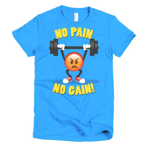 NO PAIN, NO GAIN - Emoji Short sleeve women's t-shirt