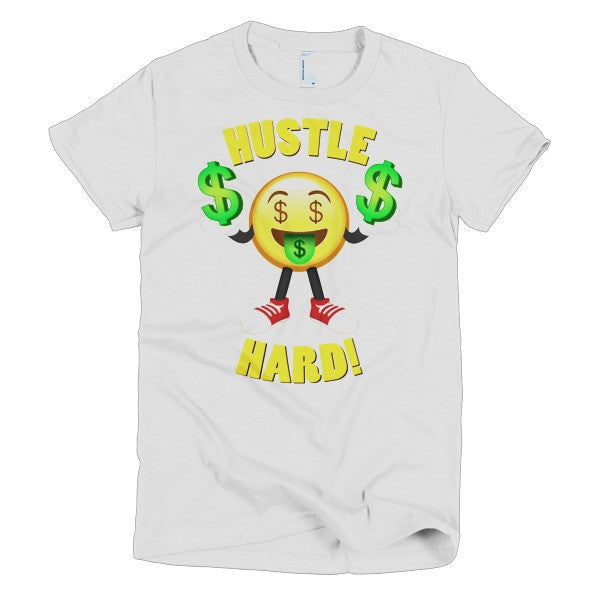 HUSTLE HARD - Emoji Short sleeve women's t-shirt