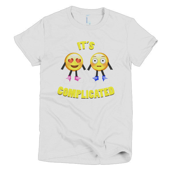 IT'S COMPLICATED - Emoji Short sleeve women's t-shirt