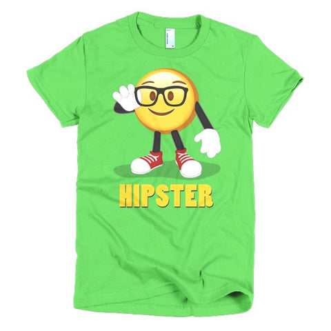 HIPSTER - Emoji Short sleeve women's t-shirt