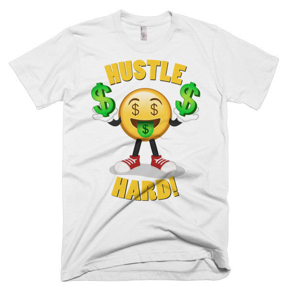 HUSTLE HARD - Men's Emoji Tee Shirt