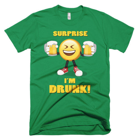 SURPRISE, I'M DRUNK ! -  Men's Emoji Tee Shirt