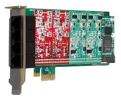 Digium Analog Telephony Cards Bus PCI-E