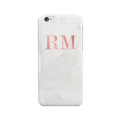 Solid Marble Pink Marble Initials Case