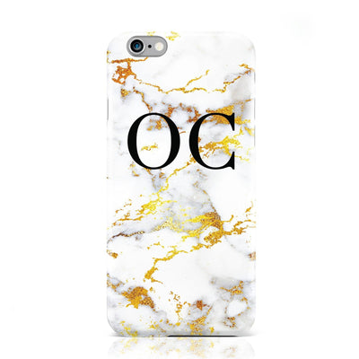 Gold Marble Initials Case