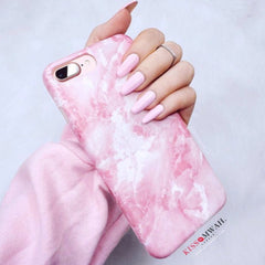 Full Name Pink Marble Premium Case