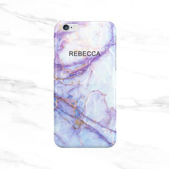 Purple Galaxy Marble Name Top Case