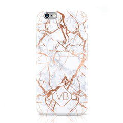 White Marble Rose Gold Veins