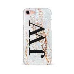 Rose gold cracks with large initials
