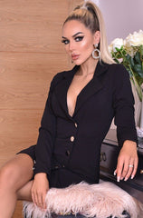 Elma Button detailed blazer black
