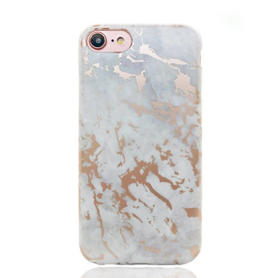 White Marble Chrome Case