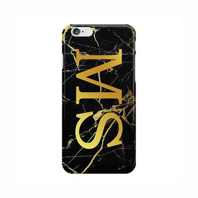 Gold Crackling Initials Case