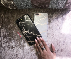 Black Chrome Marble Case