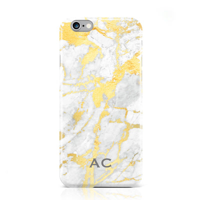 Gold Marble Small Initials Case