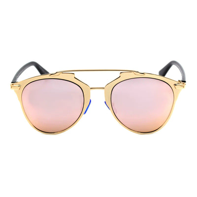 Rose Gold Mirrored Aviator Retro Style