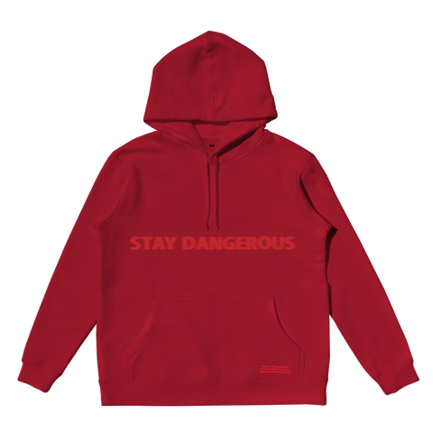 STAY DANGEROUS RED HOODIE + DIGITAL ALBUM
