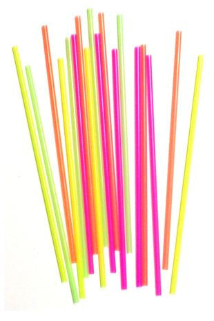 Neon Colored Straws - Unwrapped