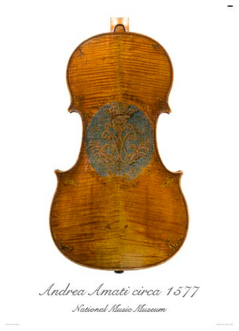 Photo of viola back by Andrea Amati, 1560