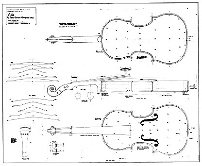 Technical drawing, Mantegazza viola, 1793