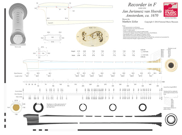 Technical drawing of van Heerde recorder